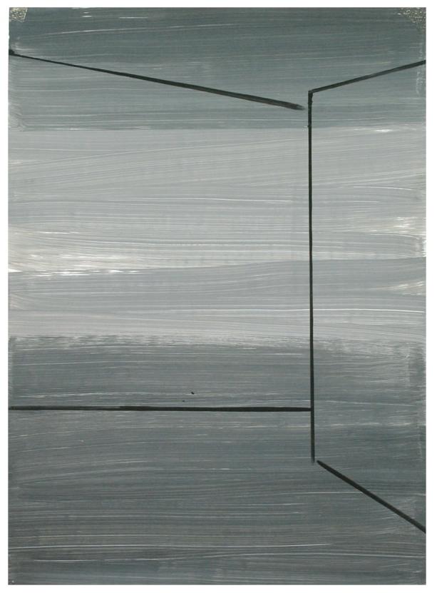 Information / Acryl auf Karton ( Gerahmt ) / 50 cm x 70 cm / 2014