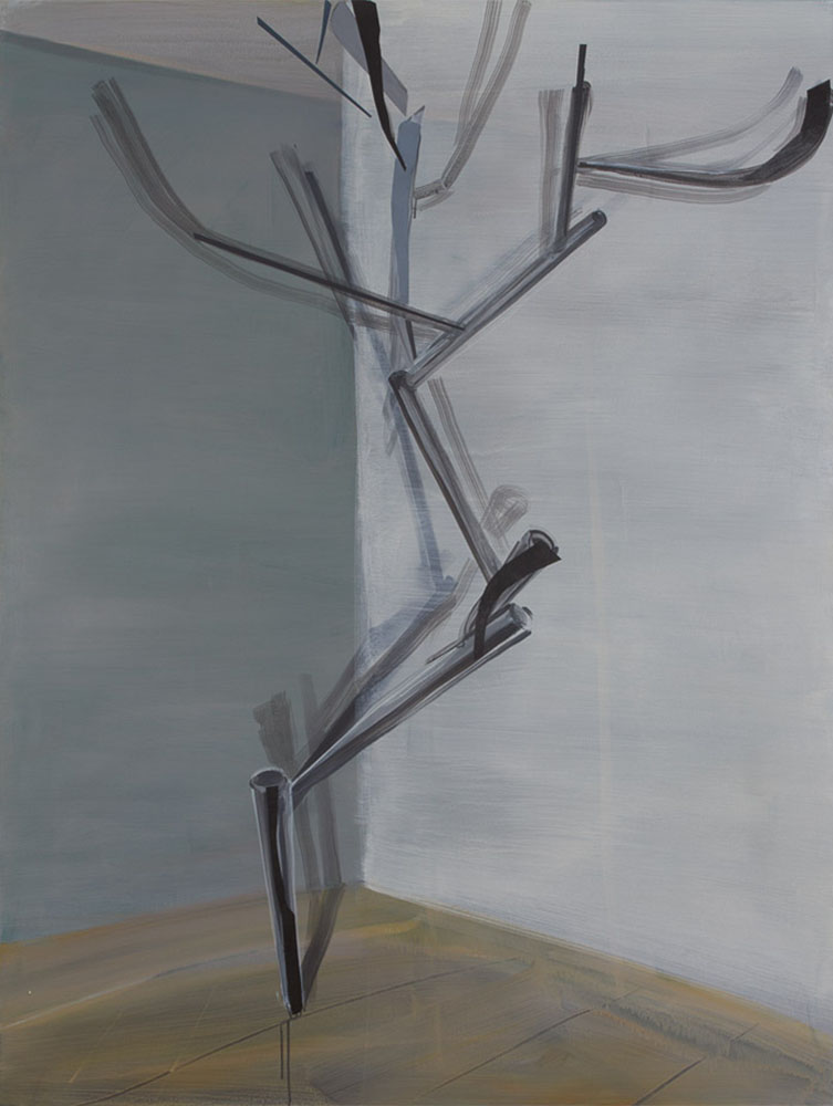 Einraumgestänge / Acryl auf Leinwand  / 154 x 194 cm / 2016