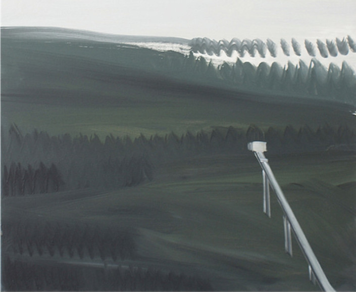 Schanzenlandschaft / 60 cm x 50 cm / Öl auf Leinwand / 2010