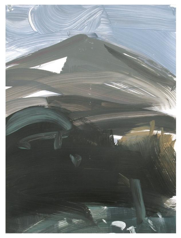Volcan/ Acryl auf Bristolkarton/ 40cm x 50 cm/ 2014