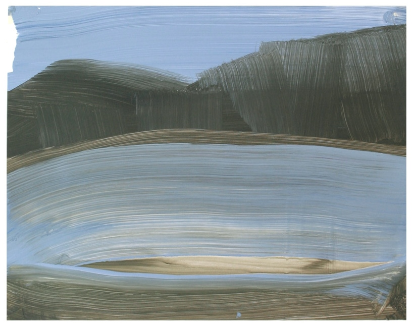 Lake / Acryl auf Karton ( Gerahmt ) / 40 cm x 50 cm / 2014