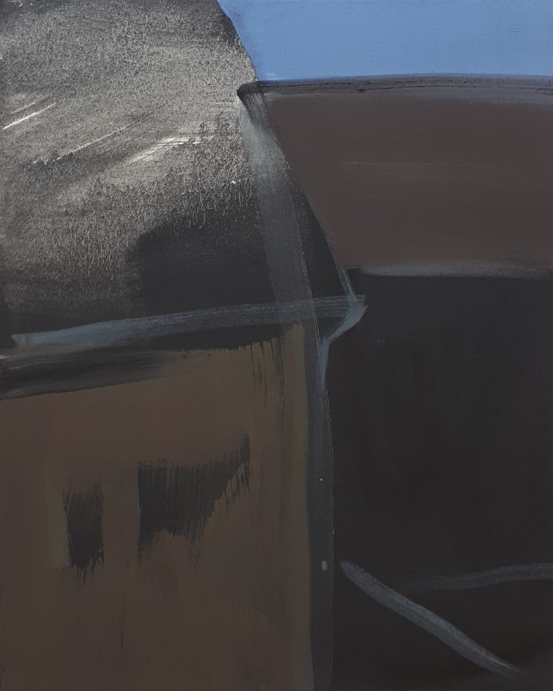 Nachbarschaft / Öl auf Leinwand / 54cm x 64cm / 2019