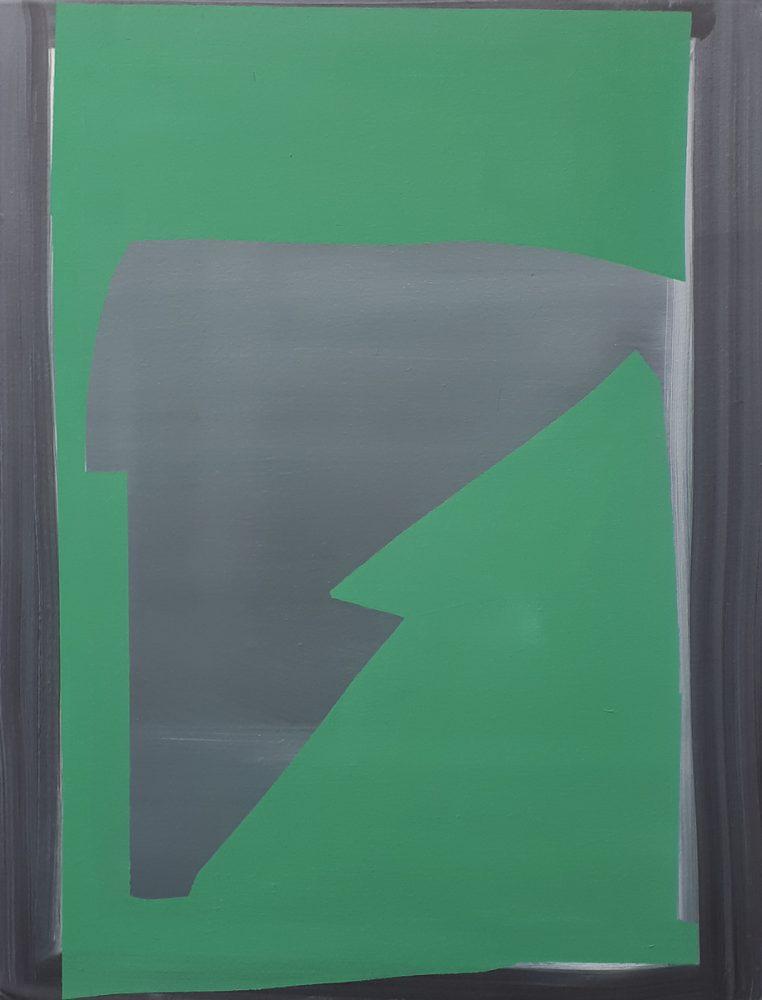 Abstrakt ( Grün ) / Acryl / Öl auf Leinwand / 71 cm x 58 cm /2019