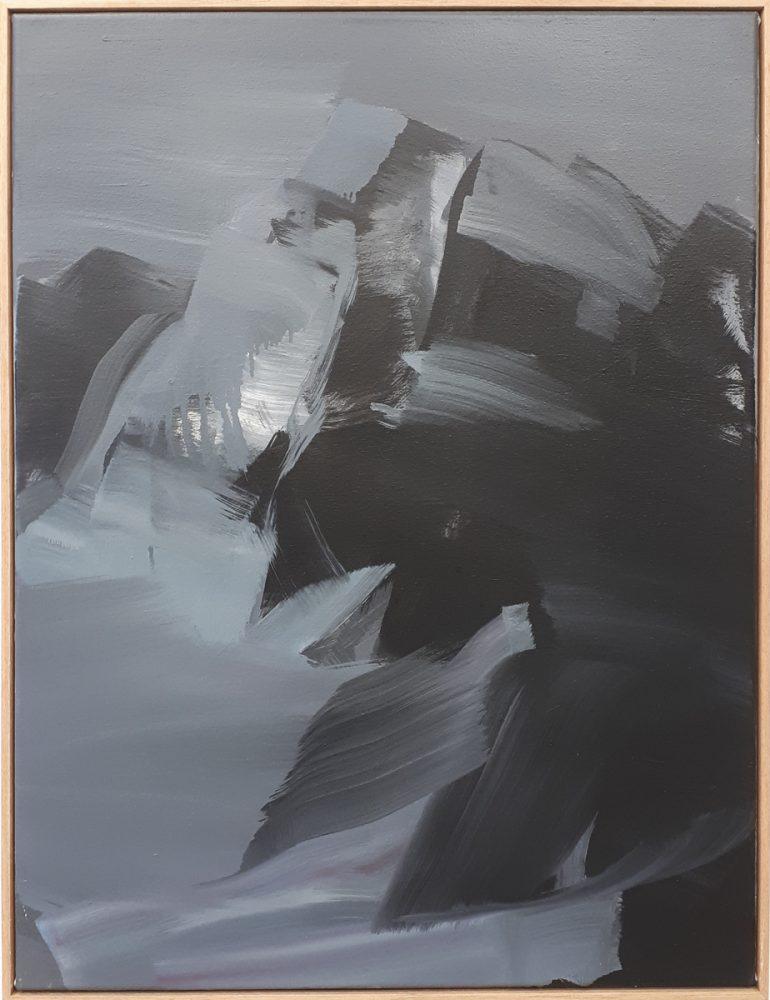 Berglandschaft / Acryl / Öl auf Leinwand / 54cm x 71cm / 2019