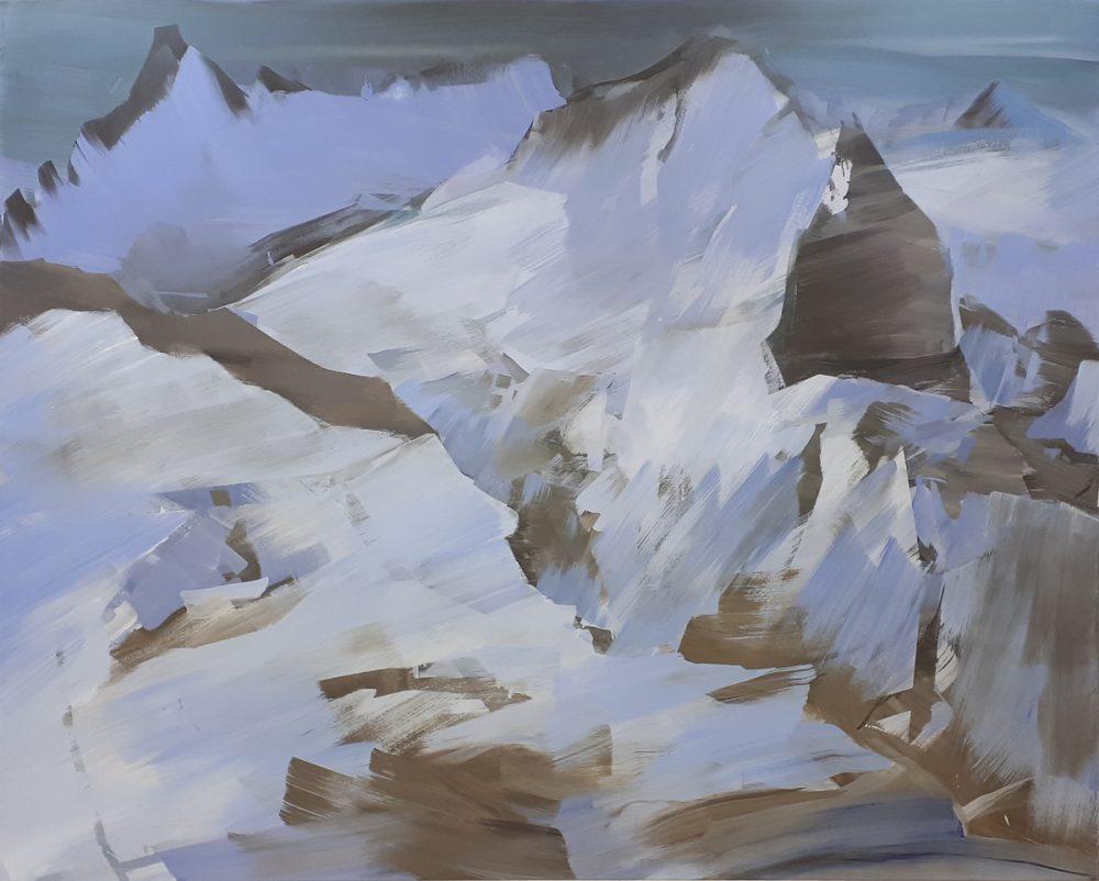 Abgestecktes Feld / Acryl / Öl auf Leinwand / 195 cm x 160 cm / 2019
