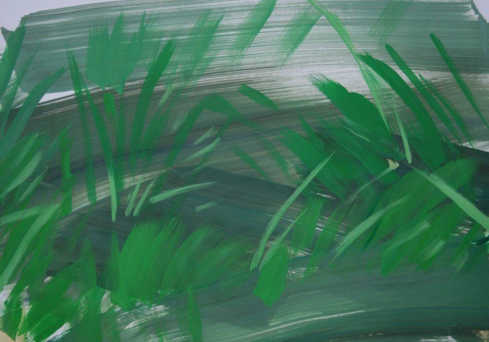 Ohne Titel/ Öl auf Papier/ 49cm x 70cm, 2019
