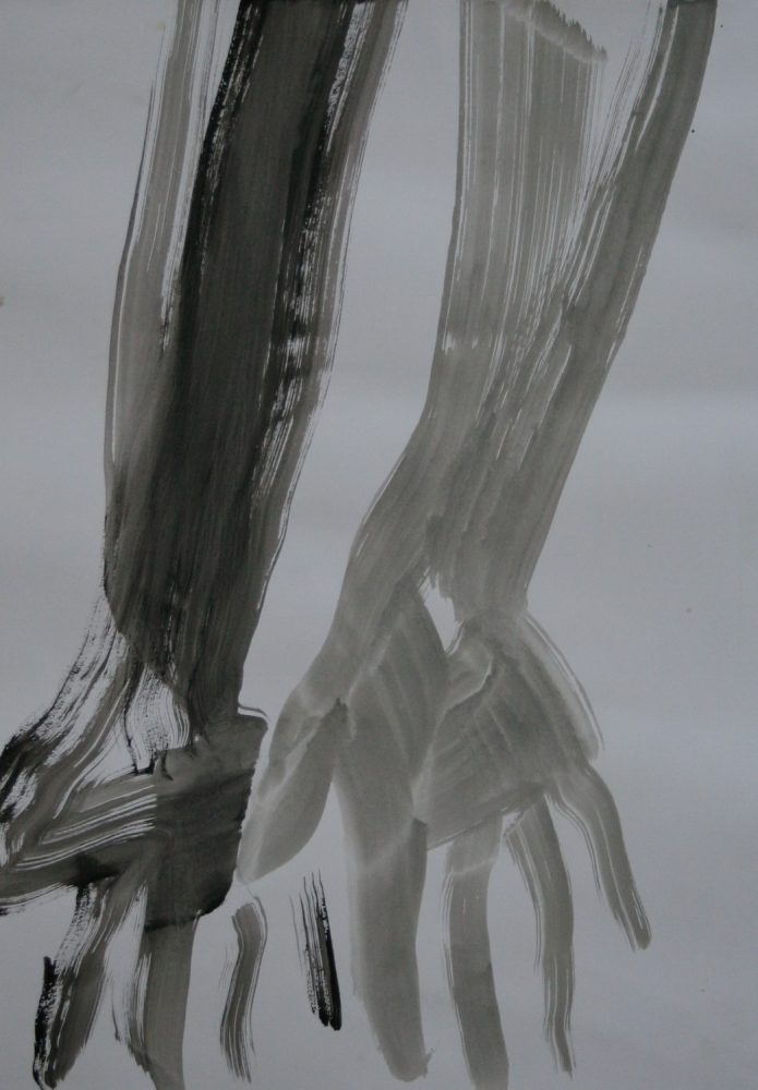 Ohne Titel/ Öl auf Papier/ 42 cm x 56 cm/ 2019